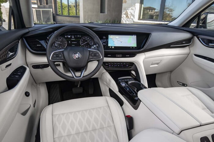 buick suv inside - envision
